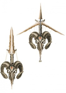 concept art, crossbow and swort in 1